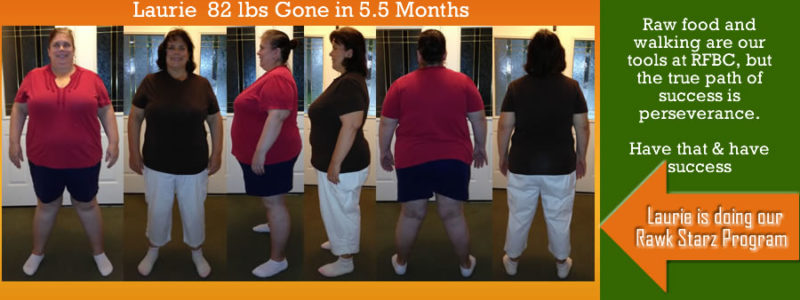 Laurie Raw Food Diet Before and Afters