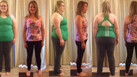 CJane's Amazing 90 lbs Gone Before and Afters