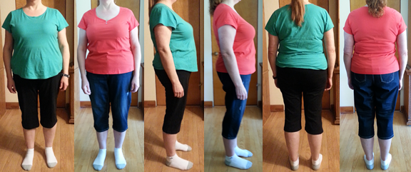 Mona's 25 lbs Gone Before and Afters in 6 Weeks