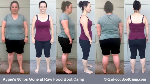 Kypie 80 lbs gone with Fast Weight Loss at Raw Food Boot Camp