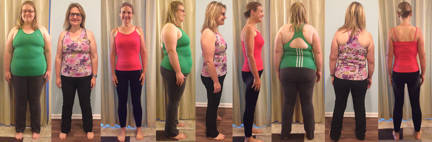 CJane's raw food boot camp before and afters