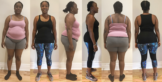Coco's obesity before and afters at Raw Food Boot Camp
