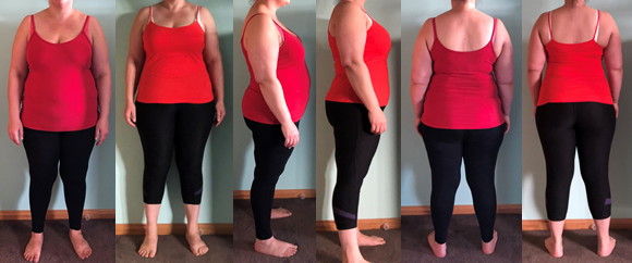 January's obesity before and afters at Raw Food Boot Camp