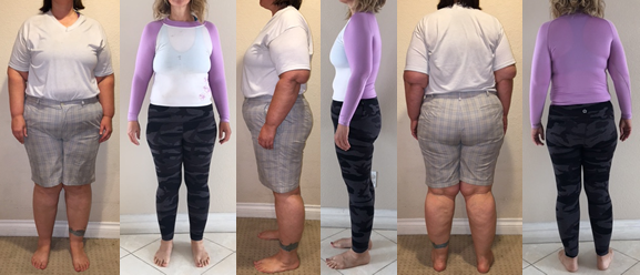 Jessica's obesity before and afters at Raw Food Boot Camp