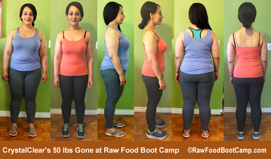 Crystal's fast weight loss with a raw food diet at Raw Food Boot Camp