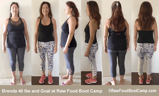 Brenda's healthy fast weight loss with a raw food diet plan