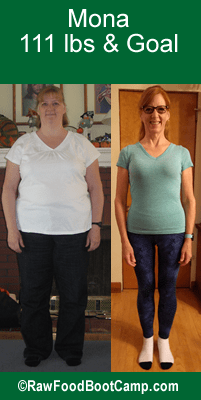 Mona's fast weight loss with a raw food diet plan