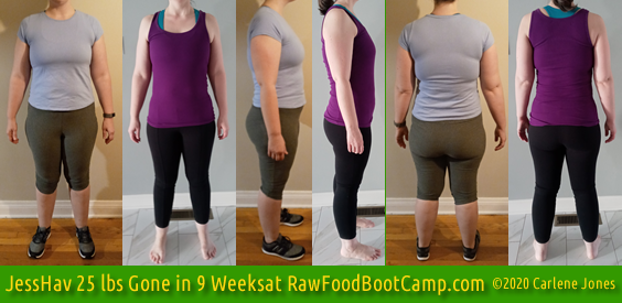 JessHav's 25 lbs Gone Fast Weight Loss with Raw Food