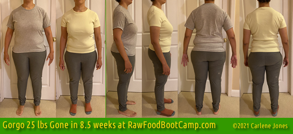 Gorgo 25 fast weight loss with raw food diet