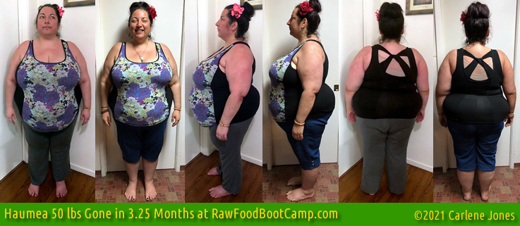 Haumea's 50 lbs gone fast weight loss with raw food