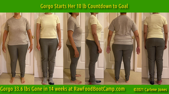 Gorgo Fast Weight Loss with Raw Food Diet at RawFoodBootCamp.com