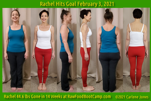 Rachel Goal Fast Weight Loss with Raw Food Diet