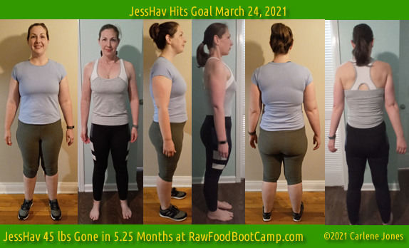JessHav Goal with fast weight loss on a raw food diet