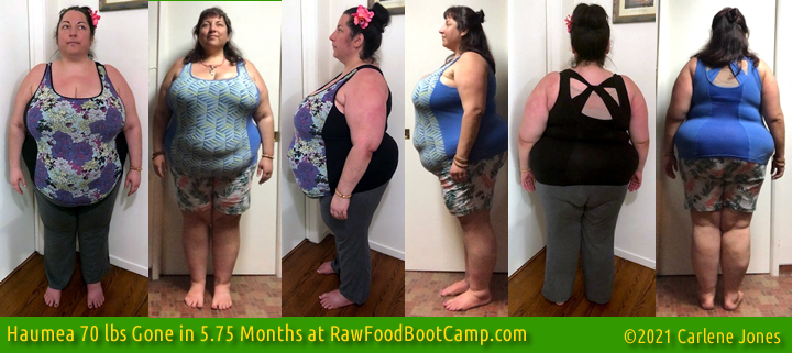 Haumea 70 lbs Fast Weight Loss with Raw Food Diet