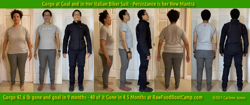Gorgo hits goal weight with fast weight loss raw food diet