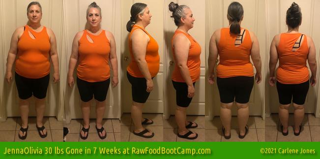 Jenna Olivia 30 lbs gone on raw food diet fast weight loss program